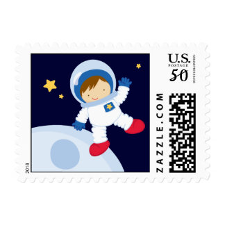 Astronaut Space Birthday Party Postage
