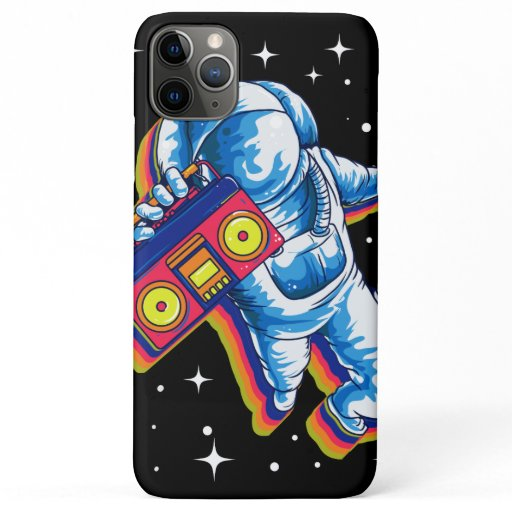 Astronaut Space Boom Box Music iPhone 11 Pro Max Case