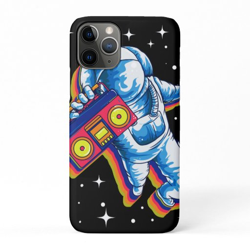 Astronaut Space Boom Box Music iPhone 11 Pro Case
