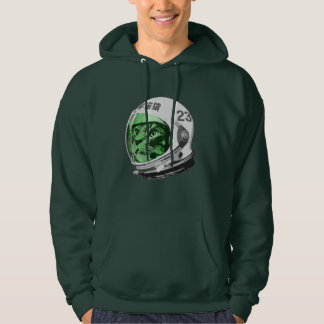 Astronaut Space Cat (green screen version) Hooded Pullover