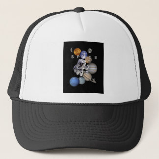 astronaut space mission solar system planets trucker hat