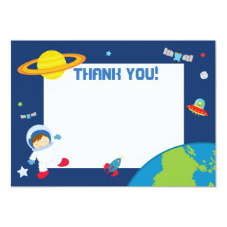 Astronaut Space Thank You Card Blank
