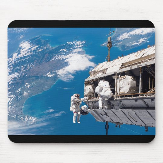 Astronaut Space Walk Above Earth Mouse Pad