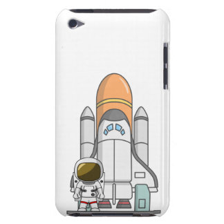 Astronaut & Spaceship Barely There iPod Cover