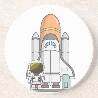 Astronaut & Spaceship Coaster