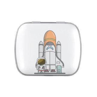 Astronaut & Spaceship Jelly Belly Tin