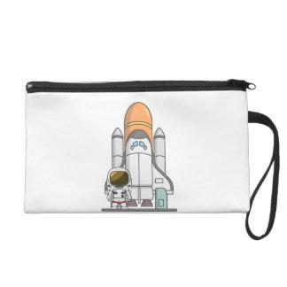 Astronaut & Spaceship Wristlet