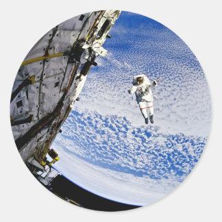 Astronaut Spacewalk Classic Round Sticker