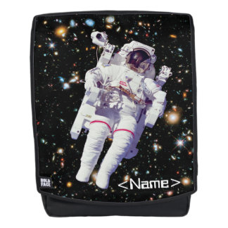 Astronaut Spacewalk Hubble Deep Field - Add Name Backpack