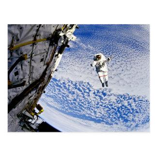 Astronaut Spacewalk Postcard