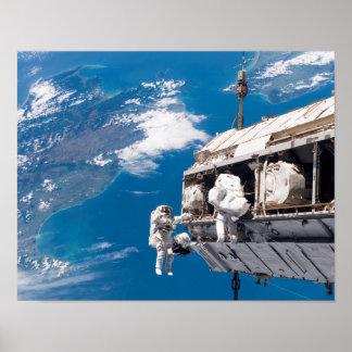 Astronaut Spacewalk Poster