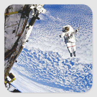 Astronaut Spacewalk Square Sticker