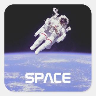 Astronaut Square Sticker