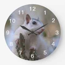 Astronaut Squirrel Large Clock