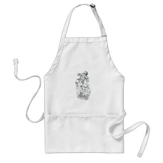Astronaut Tethered to Caravel Tattoo Adult Apron
