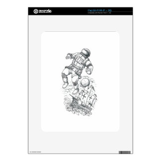 Astronaut Tethered to Caravel Tattoo Decals For The iPad