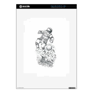 Astronaut Tethered to Caravel Tattoo iPad 2 Skins