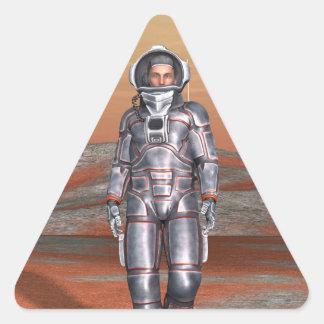 Astronaut Triangle Sticker