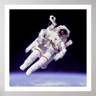 Astronaut Untethered EVA Poster