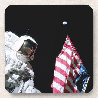 ASTRONAUT, USA FLAG & EARTH COASTERS