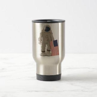 Astronaut USA Moon Landing Travel Mug