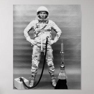 Astronaut Walter Schirra of Sigma 7 (MA-8) Posters