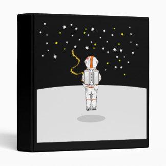 Astronaut Weeing In On The Moon Binder