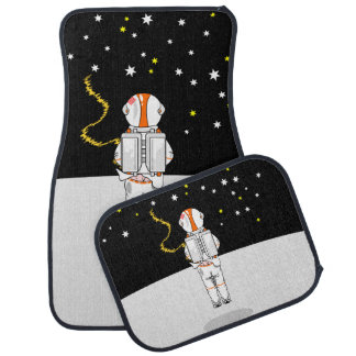 Astronaut Weeing In On The Moon Car Floor Mat