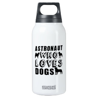astronaut Who Loves Dogs Thermos Bottle