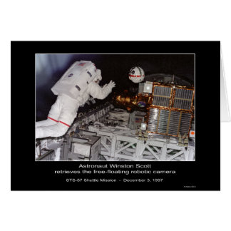 Astronaut Winston Scott free-floating robotic came Card
