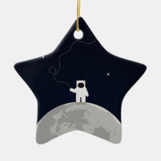 Astronaut with a Kite Christmas Tree Ornaments