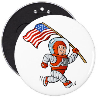 Astronaut with american flag button