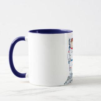 Astronaut with name tag mug