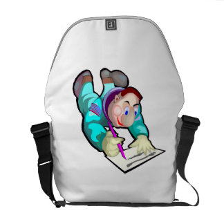 Astronaut Writing Courier Bags