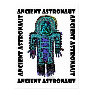 Astronauta antiguo postal