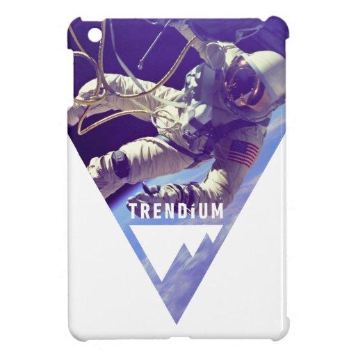Astronauta auténtico de Trendium en triángulo inve iPad Mini Protectores