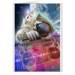 Astronauta Boombox Felicitación