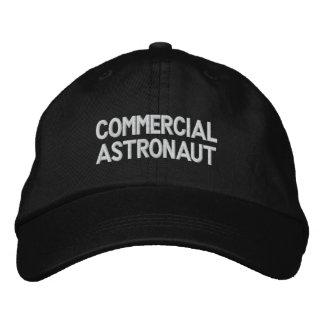 Astronauta comercial gorras de béisbol bordadas