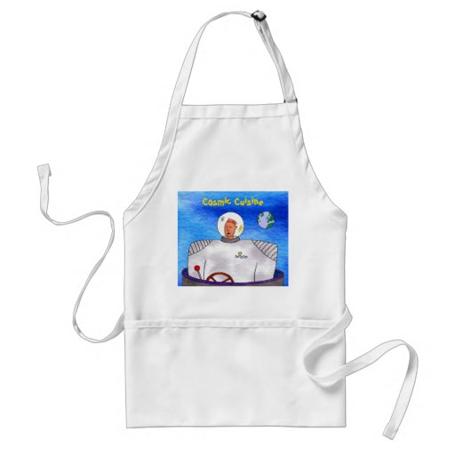 Astronauta cósmico de TinCan de la cocina Delantal