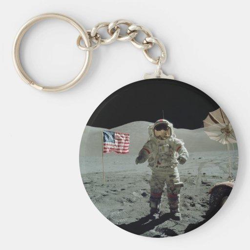 Astronauta de Apolo 17 en el valle de Littrow del  Llaveros Personalizados