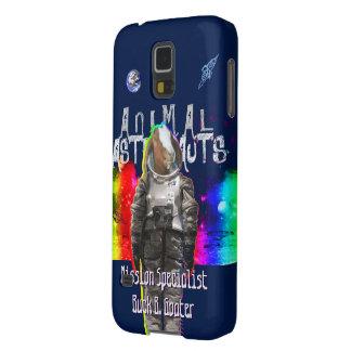 Astronauta de la cabra en espacio del arco iris funda para galaxy s5