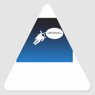 Astronauta de la ciencia pegatina triangular