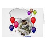 Astronauta de la fiesta de cumpleaños felicitación