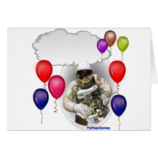 Astronauta de la fiesta de cumpleaños tarjeta de felicitación