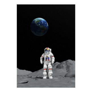 Astronauta de la luna posters