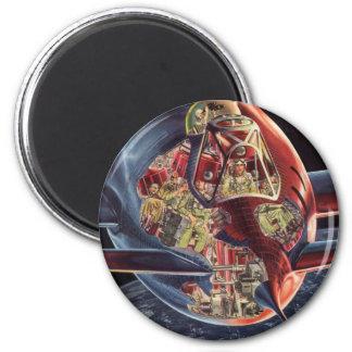 Astronauta de la nave espacial de Rocket de la Imán Redondo 5 Cm
