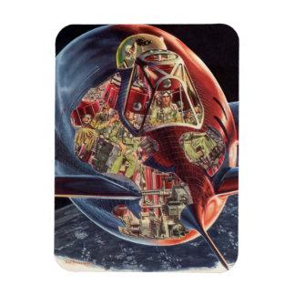 Astronauta de la nave espacial de Rocket de la Imán Flexible