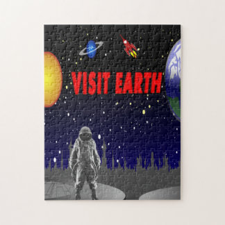 Astronauta de la tierra de la visita rompecabezas