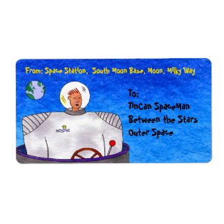 Astronauta de TinCan Etiquetas De Envío