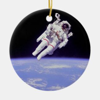 Astronauta Adorno Redondo De Cerámica